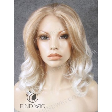 Wavy Blonde Medium-Long Lace Front Wig