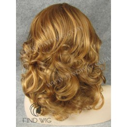 Wavy Gold Blonde / Ginger Medium-Long Lace Front Wig