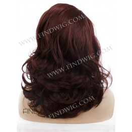 Wavy Ginger Red Medium-Long Lace Front Wig
