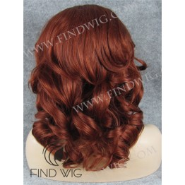 Wavy Ginger Medium-Long Lace Front Wig