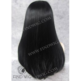 Lace Front Wig. Straight Black Long Wig