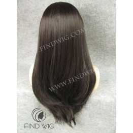 Lace Front Wig. Straight Chestnut Long Wig