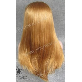 Lace Front Wig. Straight Long Blonde Straw Wig