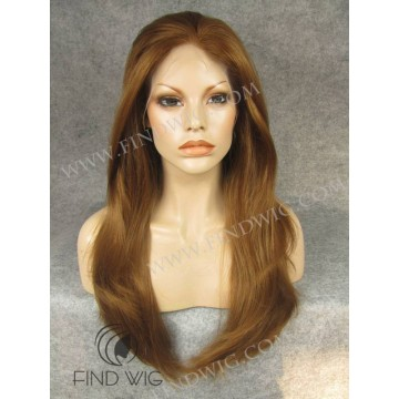 Lace Front Wig. Straight Ginger Long Wig