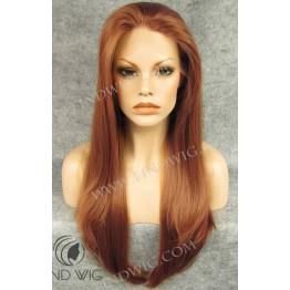 Lace Front Wig. Straight Red Gnger Long Wig