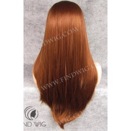 Lace Front Wig. Straight Red / Gnger Long Wig