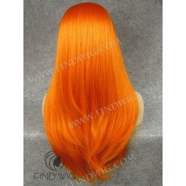 Stage Drag Lace Wig. Straight Orange Long Wig