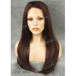 Kanekalon Wig. Straight Red Long Wig