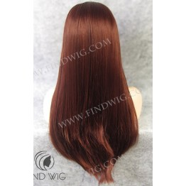 Lace Front Wig. Straight Red / Ginger Long Wig