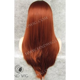 Lace Front Wig. Straight Red Long Wig