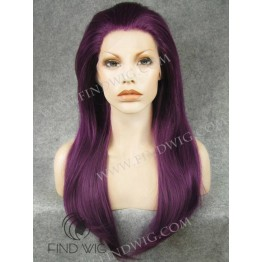 Halloween Wig. Straight Lilac Long Wig. Party Wigs