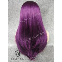 Lace Front Wig for Show. Straight Lilac Long Wig