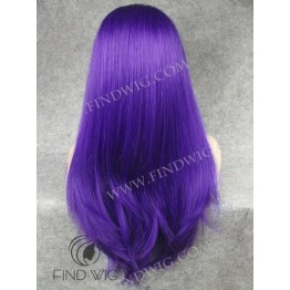 Drag Lace Wig. Straight Blue Long Wig