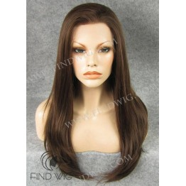 Kanekalon Wig. Straight Chestnut Long Wig