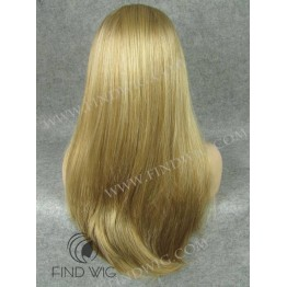 Lace Front Wig. Straight Blonde Long Wig