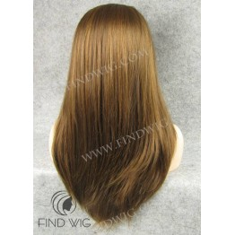 Lace Front Wig. Straight Ginger Red Long Wig