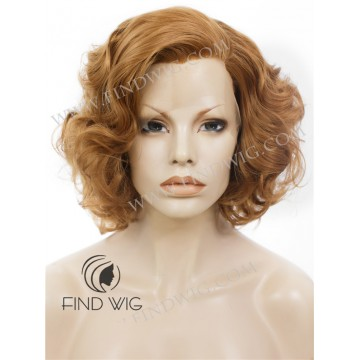 Lace Front Wig. Curly Short Ginger / Red Wig