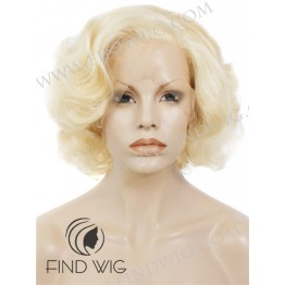 Marilyn Monroe Wig. Curly Gold-Blonde Short Lace Front Wig