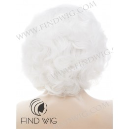 Curly Platinum Blonde Short Lace Wig. Marilyn Monroe Style Wig