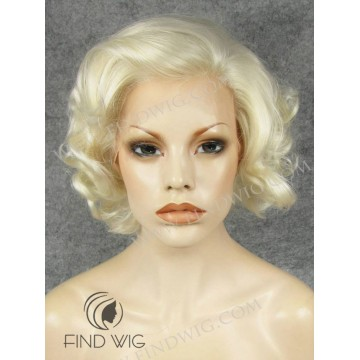 Curly Blond Short Lace Wig. Marilyn Monroe Style Wig