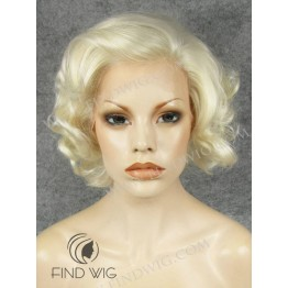 Lace Front Wig. Curly Blonde Short Wig. Marilyn Monroe Wig