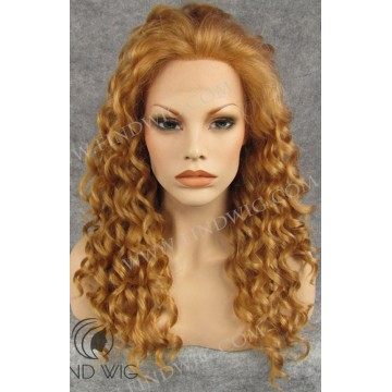 Curly Light Blonde Gold Long Wig. New Style Wig