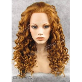 Lace Front Wig. Curly Blonde Gold Long Wig. New Style Wig