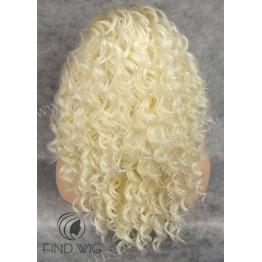 Кудрявый, длинный парик блонд. Парик Lace Front