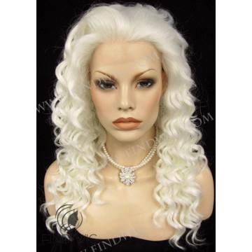 Kanekalon Wig. Curly Platinum Blonde Long Wig
