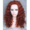 Synthetic Lace Front Wig. Curly Red Long Wig