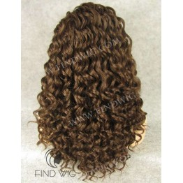 Lace Front Wigs. Curly Chestnut Long Wig