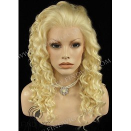 Kanekalon Wig. Curly Blonde Long WIg