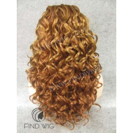 Lace Front Wig. Curly Blonde Gold Long Wig