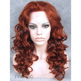 Lace Front Wig. Curly Red / Ginger Long Wig