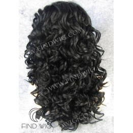 Kanekalon Wig. Curly Black Long Wig