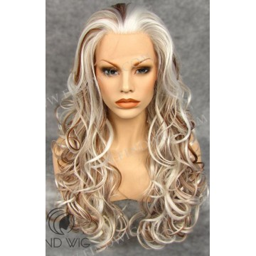 Wavy Highlighted Blonde Long Lace Front Wig