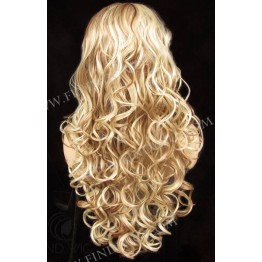 Highlighted Wig. Wavy Blonde Highlighted Long Wig. Wigs Online