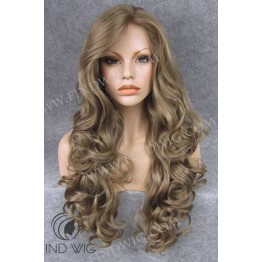 Lace Front Wig. Wavy Blonde Ash Grey Long Wig