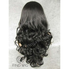 Kanekalon Wig. Wavy Black Long Wig