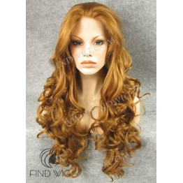 Wavy Ginger Long Wig. Jessica Rabbit Wig