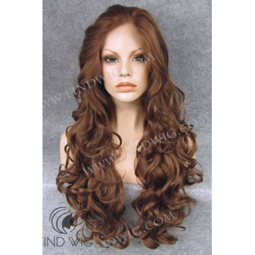 Wavy Long Dark Blonde / Ginger Lace Front Wig