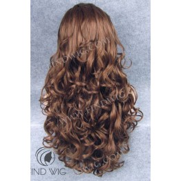 Wavy Chestnut Long Wig. Lace Front Wig.