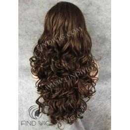 Kanekalon Wavy Chestnut Long Lace Front Wig
