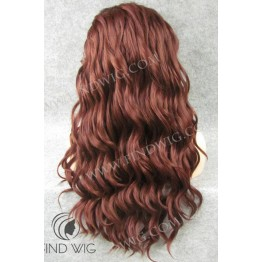 Lace Front Wig. Wavy Red / Chestnut Long Wig