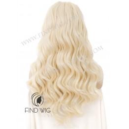 Kanekalon Wavy Blonde Long Lace Front Wig