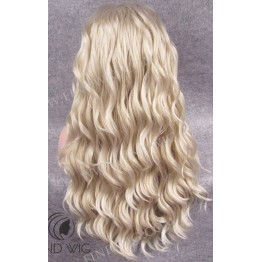 Kanekalon Wig. Wavy Blond Ash Grey Long Wig