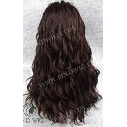 Lace Front Wig. Wavy Chestnut Red Long Wig