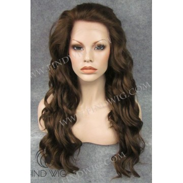 Lace Front Wig Wavy Chestnut Long Wig