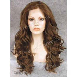 Wavy Chestnut Long Lace Front Wig