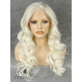 Kanekalon Wig. Wavy Platinum Blonde Long Wig